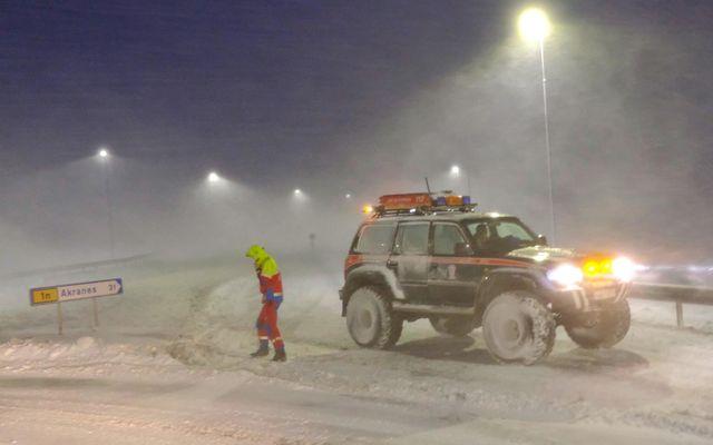 Ofsaveður í desember 2019. Mynd úr safni.
