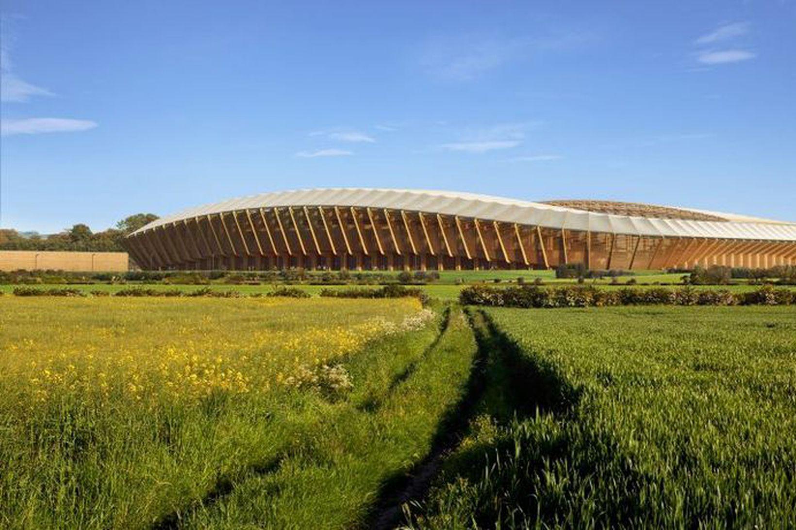 Arkitektastofa írask-breska arkitektsins Zaha Hadid hannaði völlinn.
