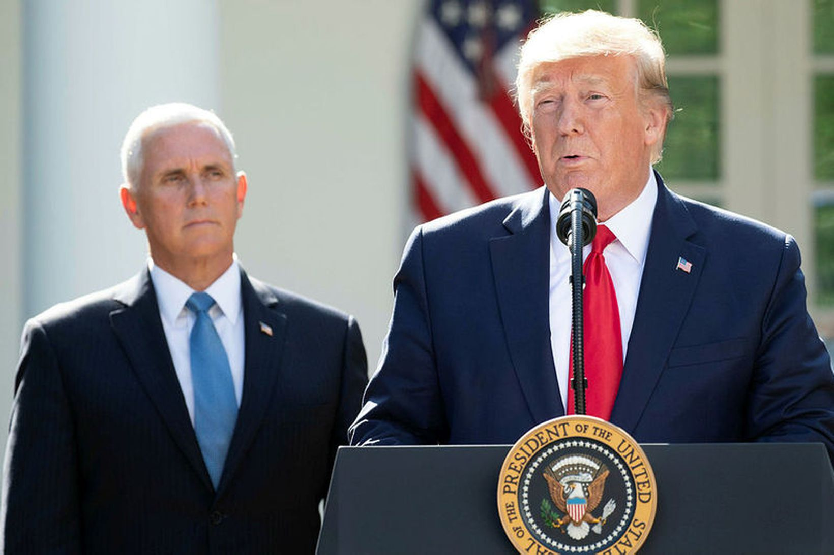 Donald Trump og Mike Pence.