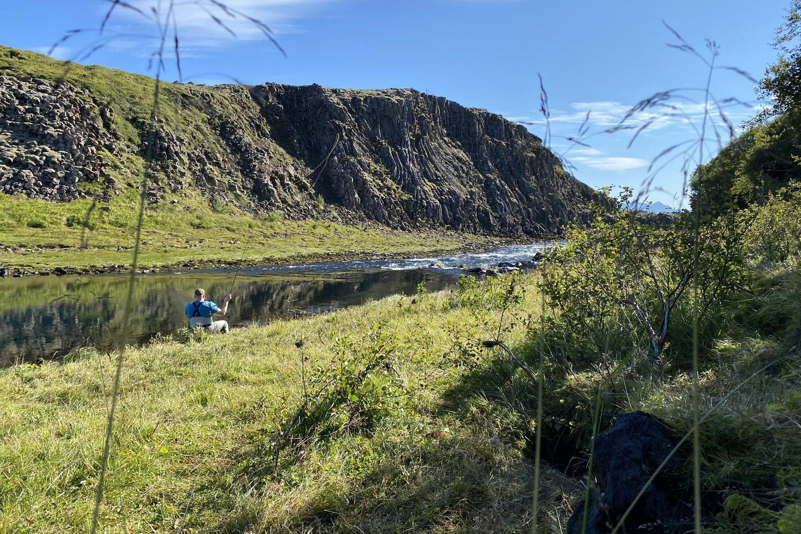 Fallegur sumardagur við Norðurá.