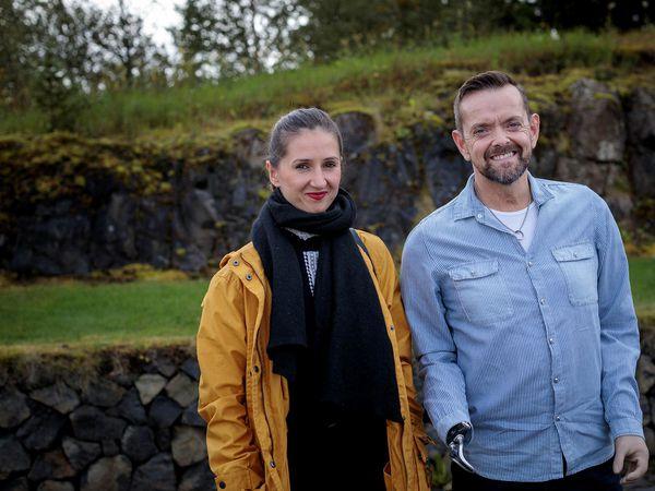 Guðmundur Felix Grétarsson, with his wife Sylwia Gretarsson Nowakowska.
