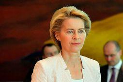 Ursula von der Leyen, varnarmálaráðherra Þýskalands, sem tilnefnd hefur verið sem næsti forseti framkvæmdastjórnar Evrópusambandsins …
