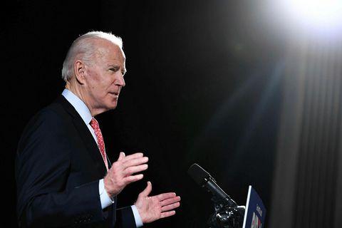 Joe Biden, sem verður að öllum líkindum forsetaframbjóðandi Demókrataflokksins í forsetakosningunum í nóvember, nýtur stuðnings …