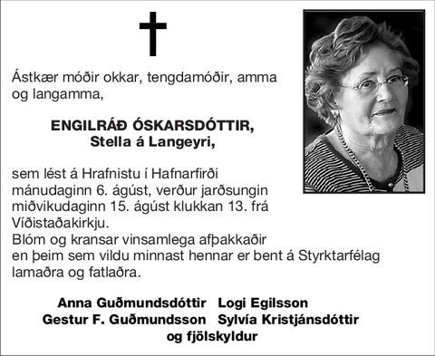 Engilráð Óskarsdóttir,