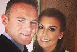 Fótboltakappinn Wayne Rooney og eiginkona hans Coleen Rooney.