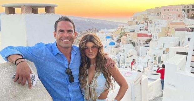 Luis Ruelas og Teresa Giudice ástfangin á Santorini.