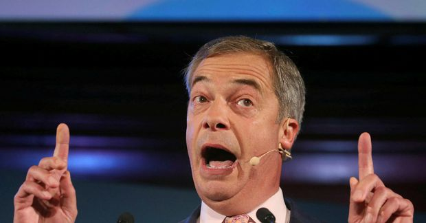 Nigel Farage, leiðtogi Brexitflokksins. Mun hann taka sæti í framkvæmdastjórn Evrópusambandsins.
