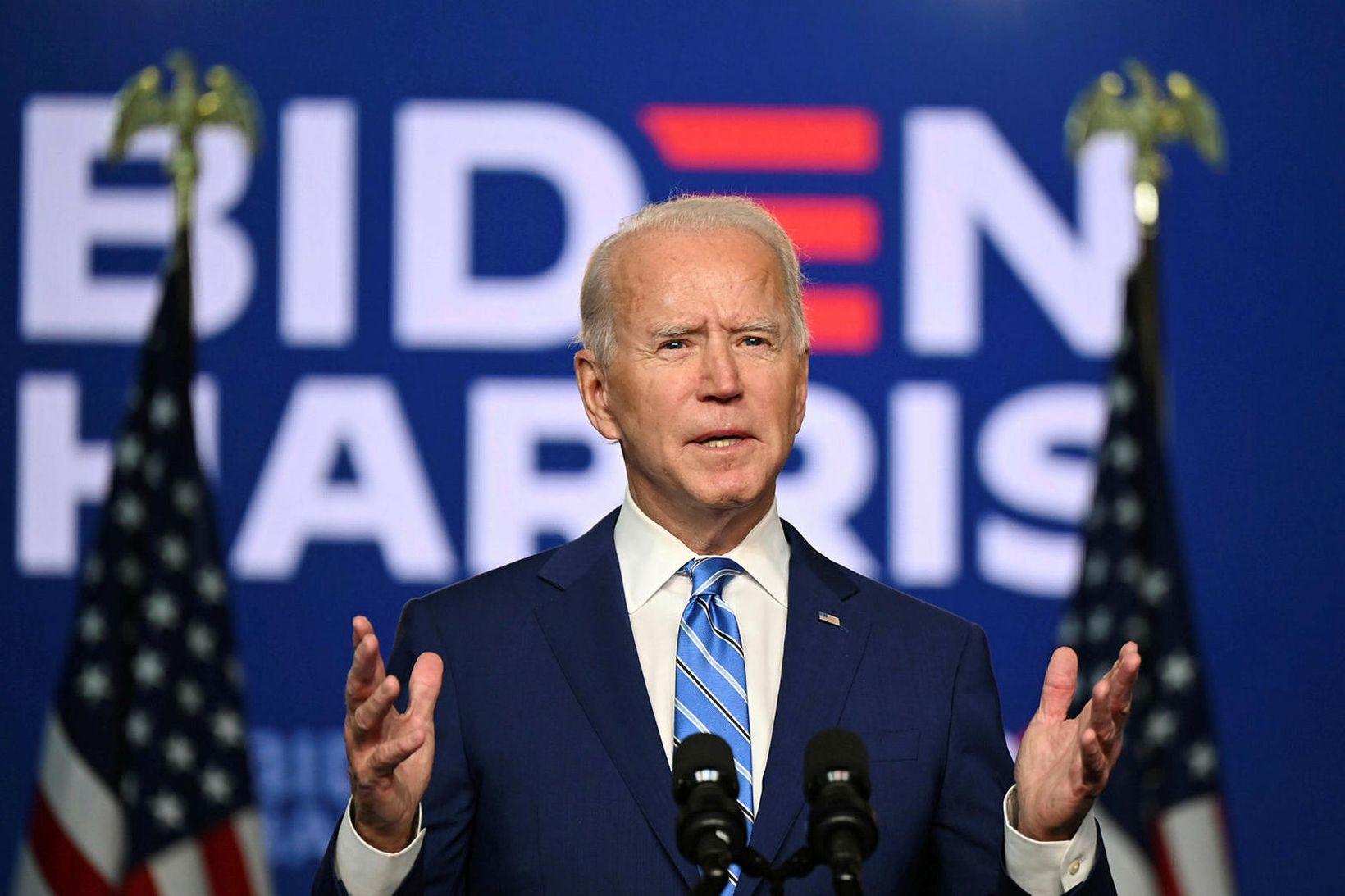 Joe Biden verður 46. forseti Bandaríkjanna.