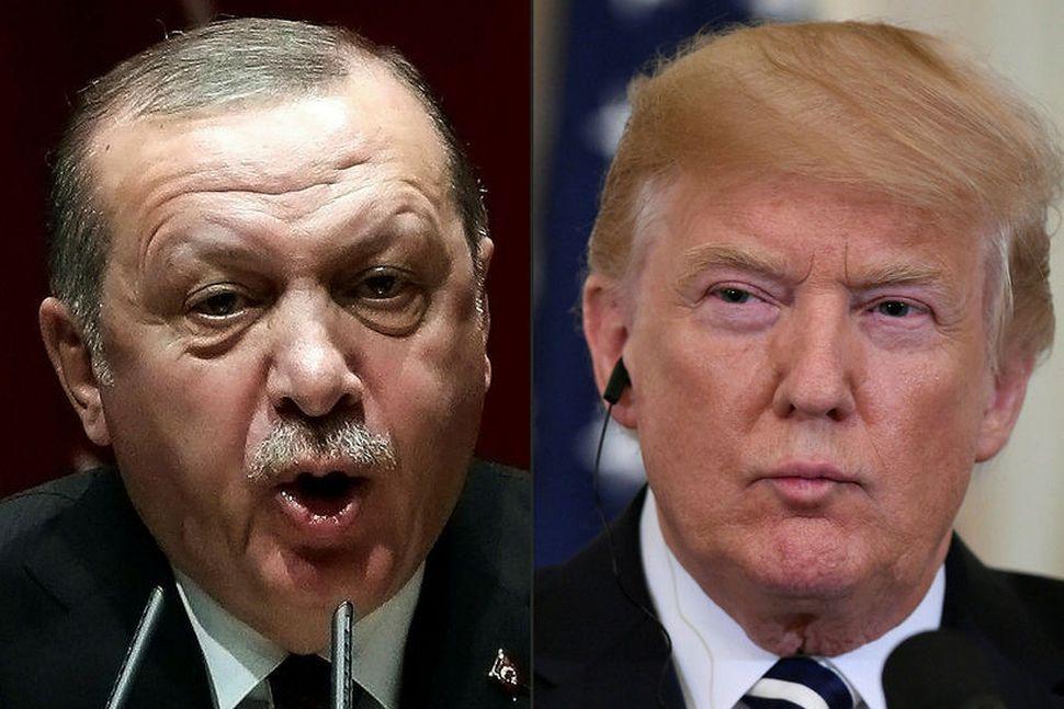 Recep Tayyip Erdogan Tyrklandsforseti og Donald Trump Bandaríkjaforseti deila um ...
