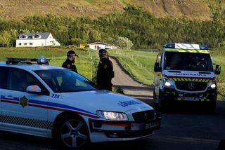 Frá vettvangi í Mosfellsdal þar sem Arnar Jónsson Aspar lést.