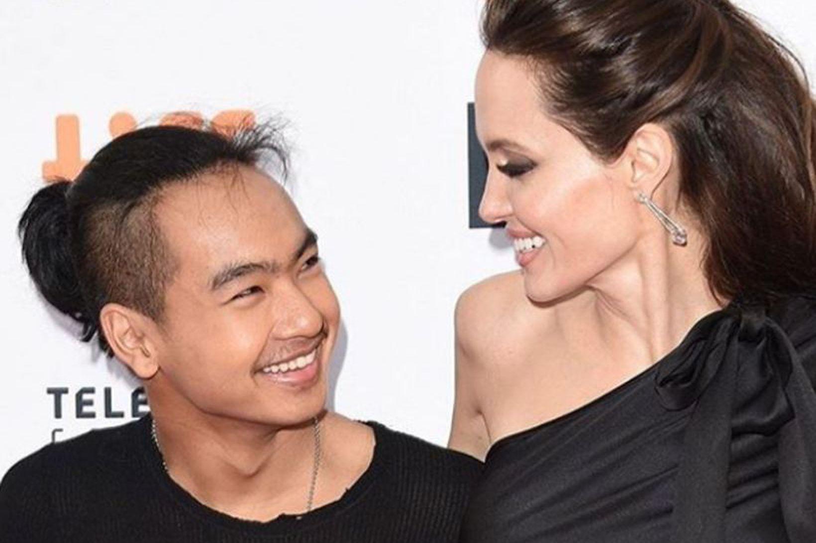 Maddox Jolie-Pitt og Angelina Jolie.