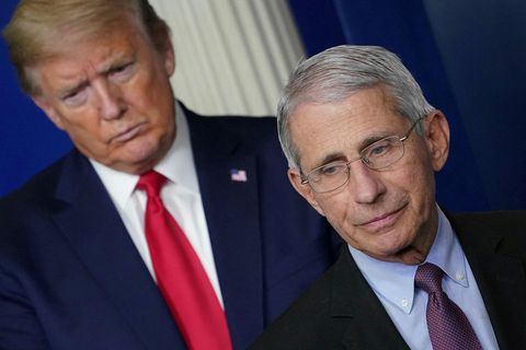 Donald Trump og Anthony Fauci.