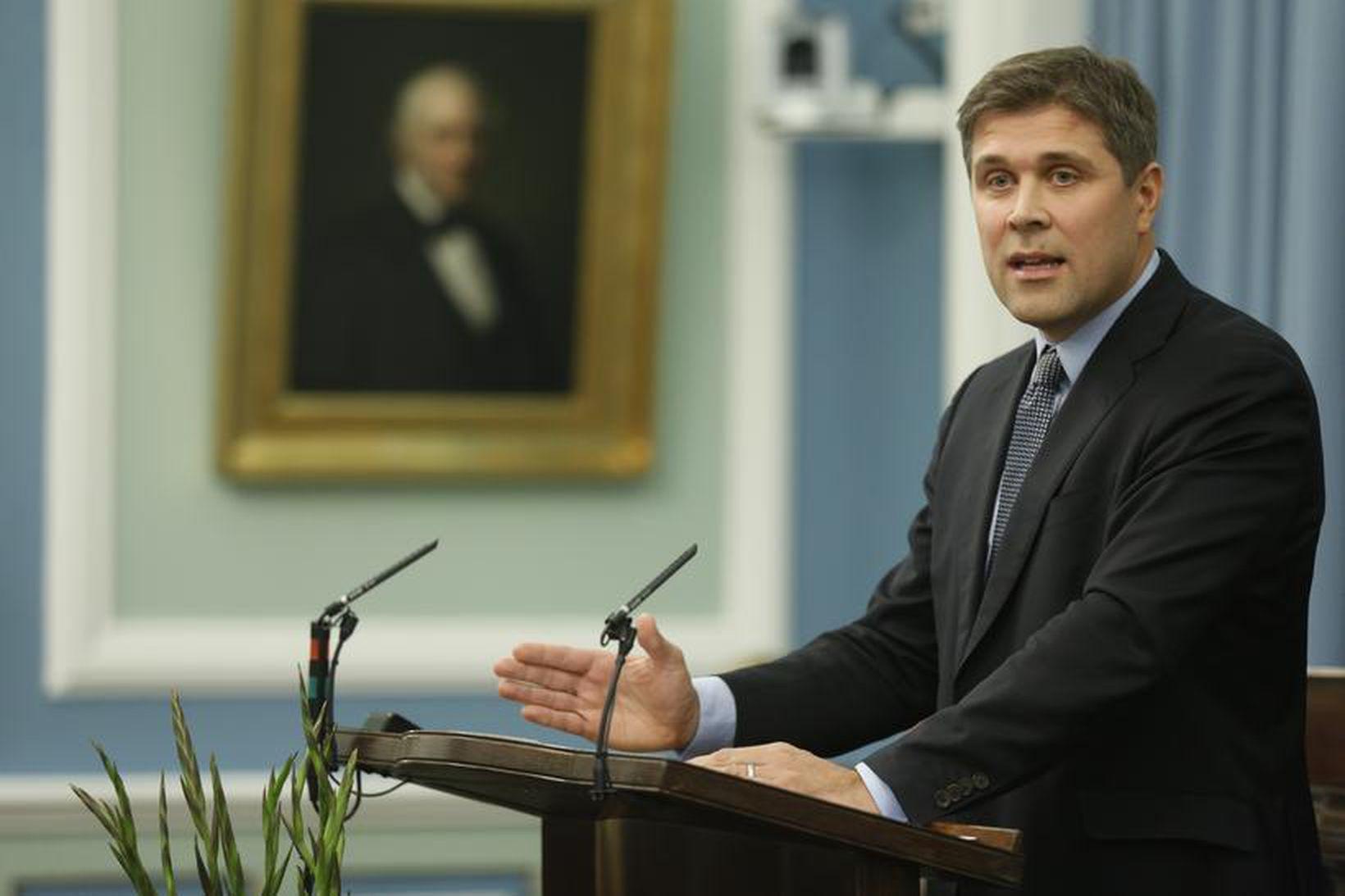 Bjarni Benediktsson fjármálaráðherra á Alþingi.