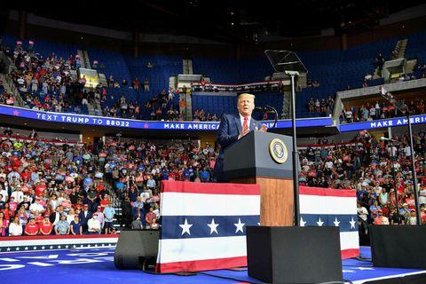 Frá kosningafundi Trump í Tulsa 20. júní.