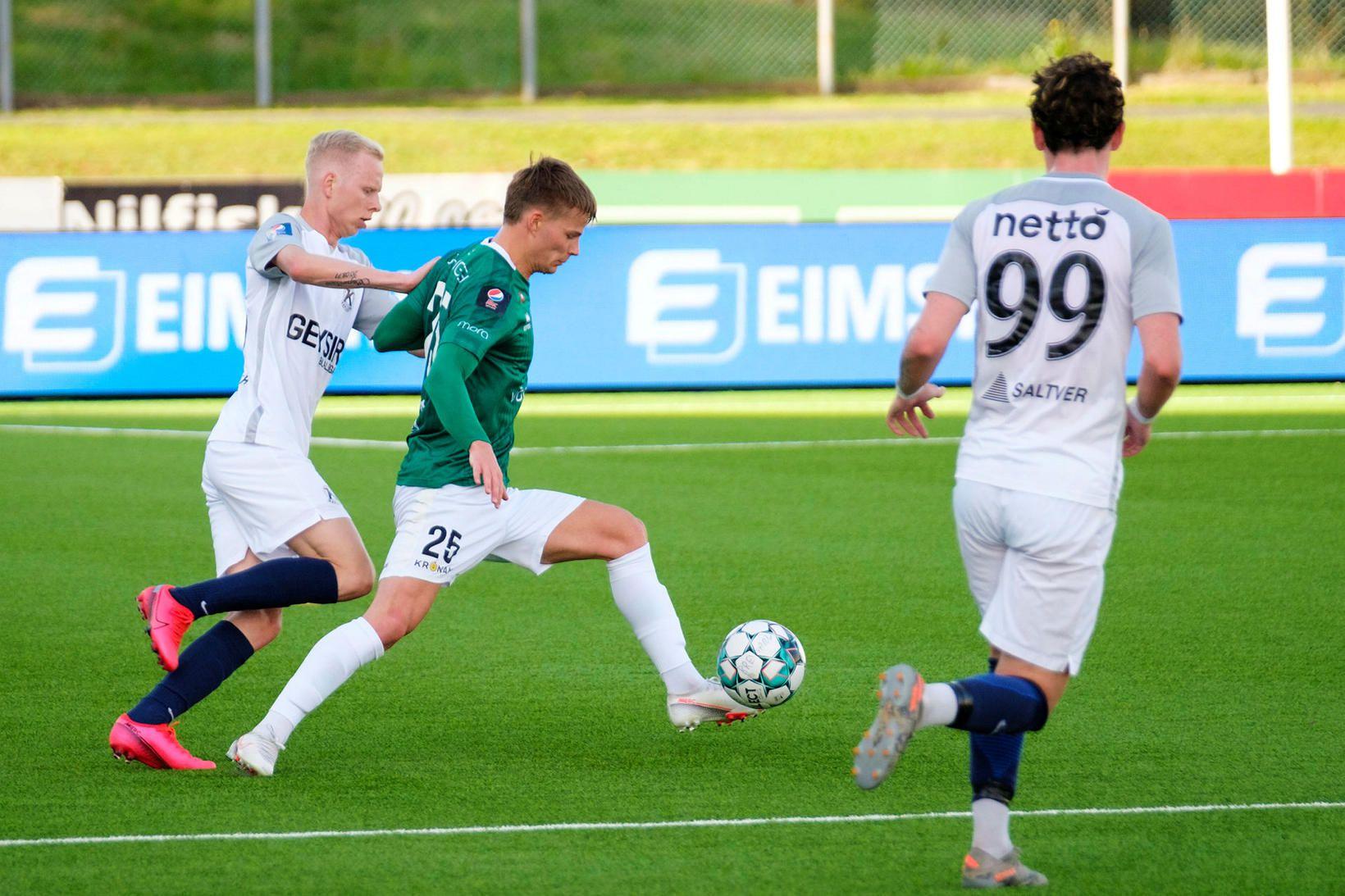 Davíð Ingvarsson skoraði þriðja mark Breiðabliks.