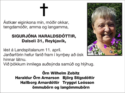 Sigurjóna Haraldsdóttir,