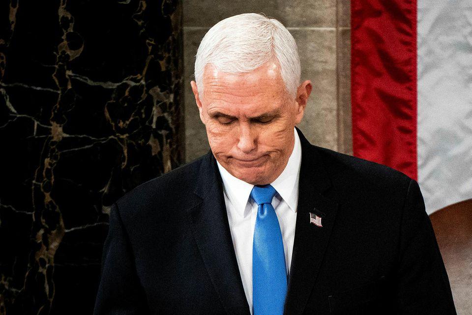 Mike Pence, varaforseti Bandaríkjanna, hefur hvatt menn til að sýna stillingu.