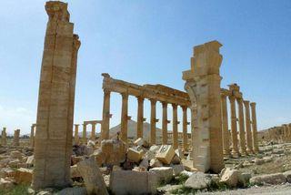 Vígamenn Ríkis íslams eyðilögðu fornminjar í Palmyra síðast þegar þeir réðu þar ríkjum.