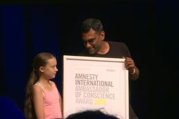 Thunberg samviskusendiherra Amnesty