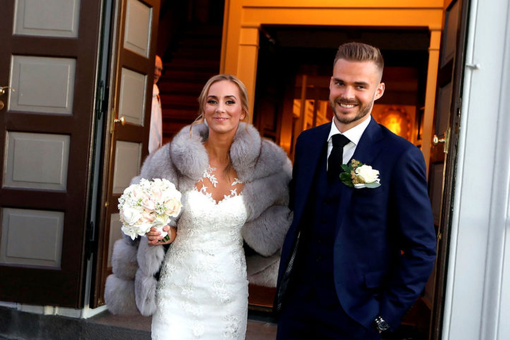 Jóna Vestfjörð Hannesdóttir og Hólmar Örn Eyjólfsson.