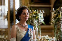 Olivia Colman í hlutverki drottningarinnar.