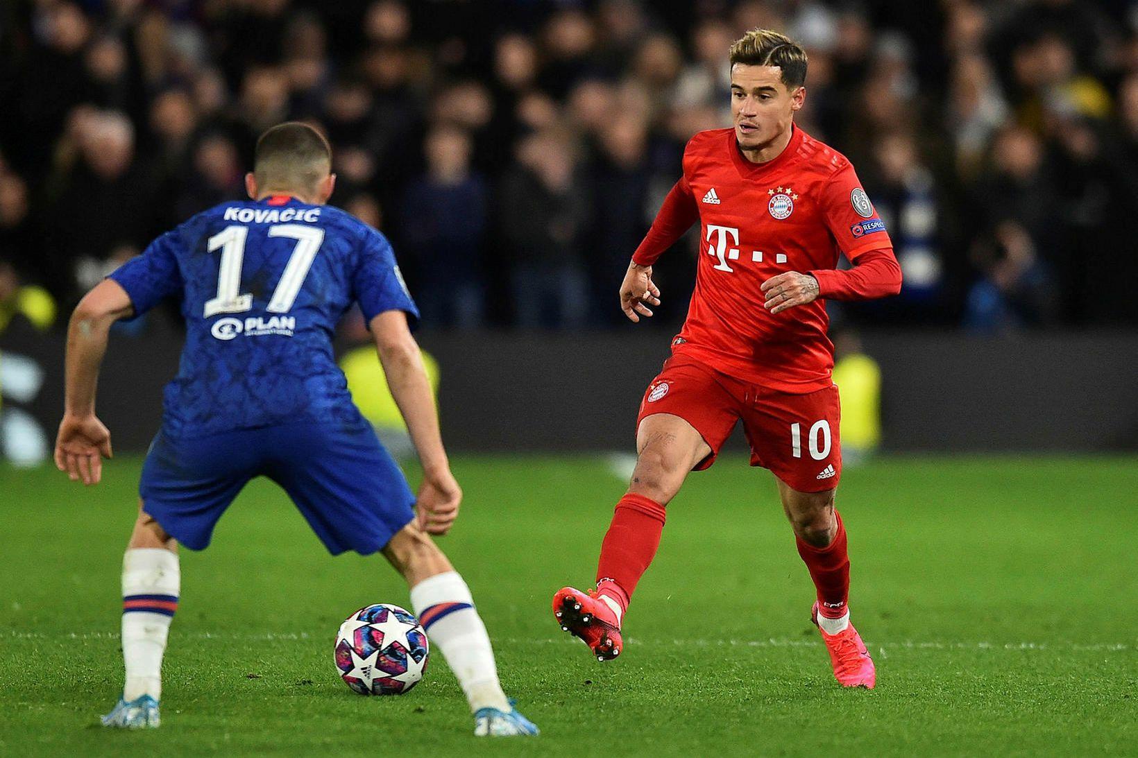 Philippe Coutinho í leik með Bayern gegn Chelsea í Meistaradeild …