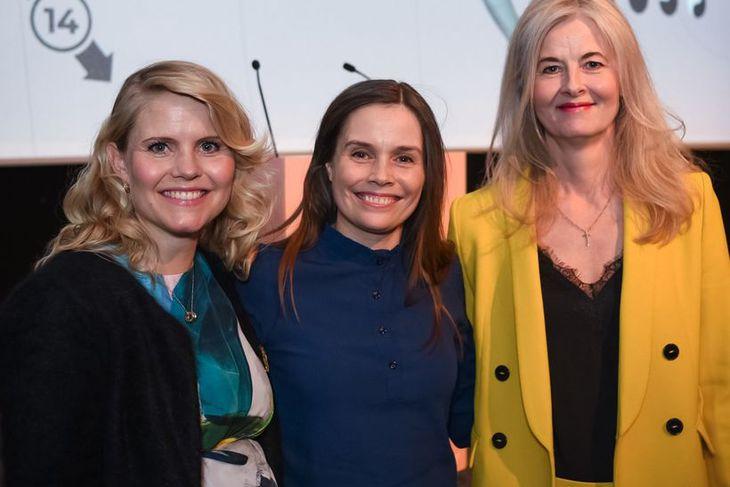 Ásta Fjeldsted, Katrín Jakobsdóttir og Katrín Olga Jóhannesdóttir.