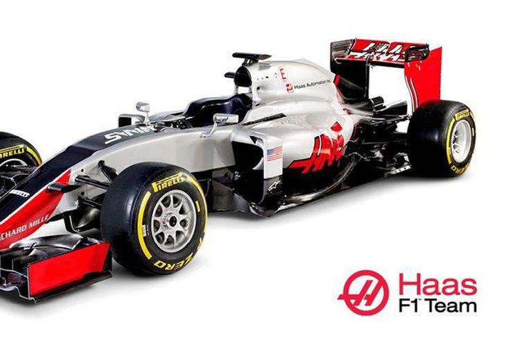 Bíll nýliðanna í formúlu-1, bandaríska liðsins Haas F1.