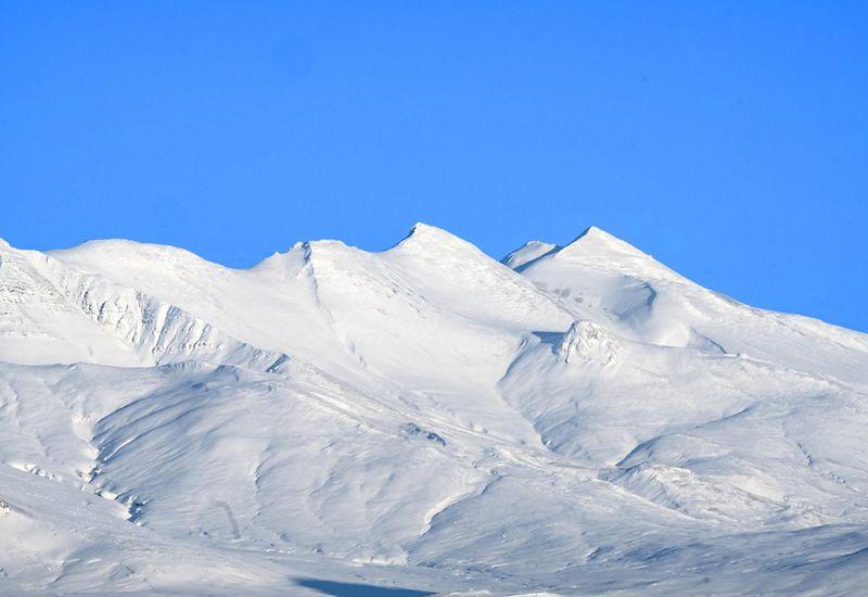 Móskarðshnjúkar peaks in Esja mountain.