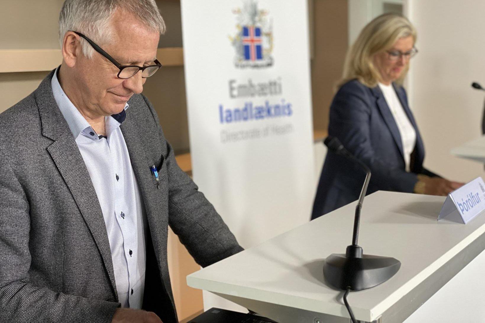 Þórólfur Guðnason sóttvarnarlæknir og Alma Möller landlæknir.