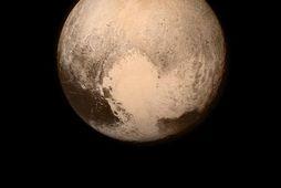 Mynd New Horizons af Plútó áður en framhjáflugið hófst. Hún er tekin úr um 766.000 …