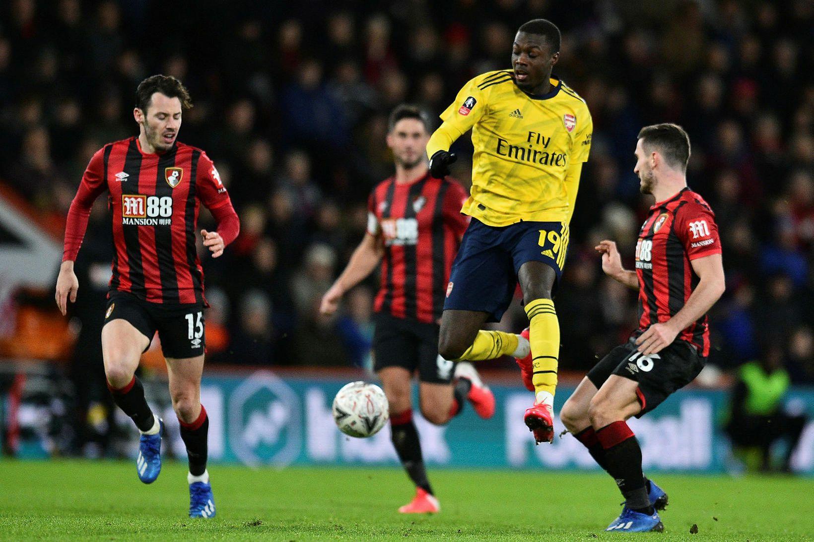 Arsenal er komið áfram í 16-liða úrslit.