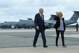 Bandarísku forsetahjónin, Joe Biden og Jill Biden.
