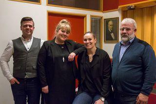 Frá vinstri: Davíð Sigurðsson, Guðveig Anna Eyglóardóttir, Sigrún Sjöfn Ámundadóttir og Finnbogi Leifsson.