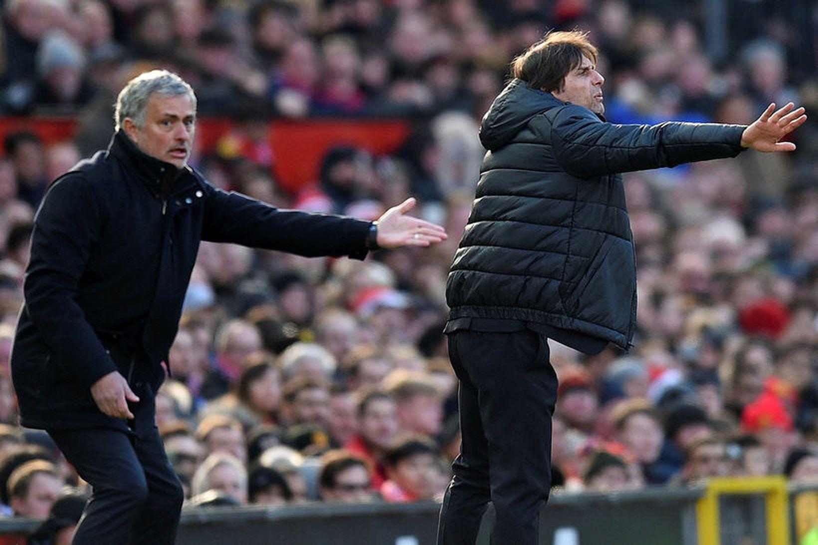 José Mourinho og Antonio Conte munu deila hliðarlínu á ný …