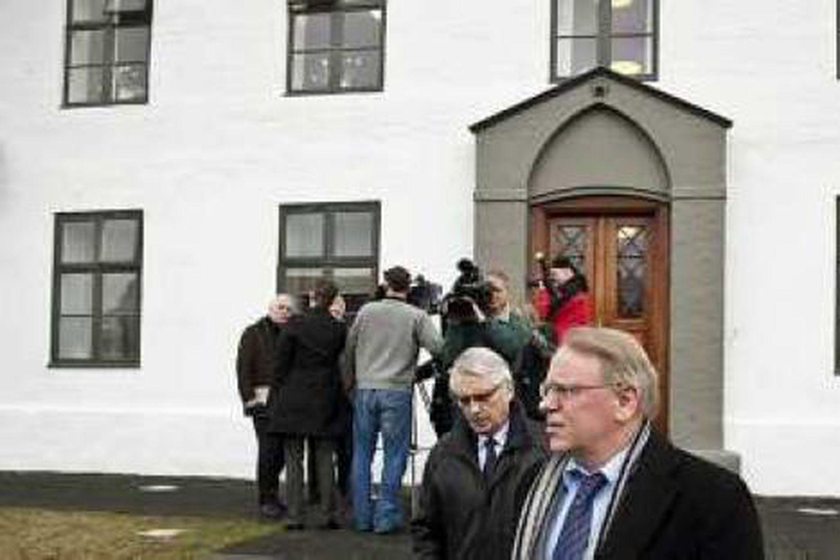 Vilmundur Jósefsson, formaður Samtaka atvinnulífsins, og Vilhjálmur Egilsson framkvæmdastjóri SA.