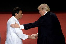 Rodrigo Duterte og Donald Trump.