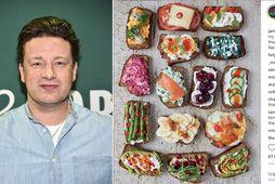 Jamie Oliver kveikti í dönsku þjóðinni með nýjustu mynd sinni á Instagram.