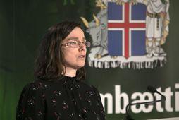 Kamilla Sigríður Jósefsdóttir á fundi almannavarna.