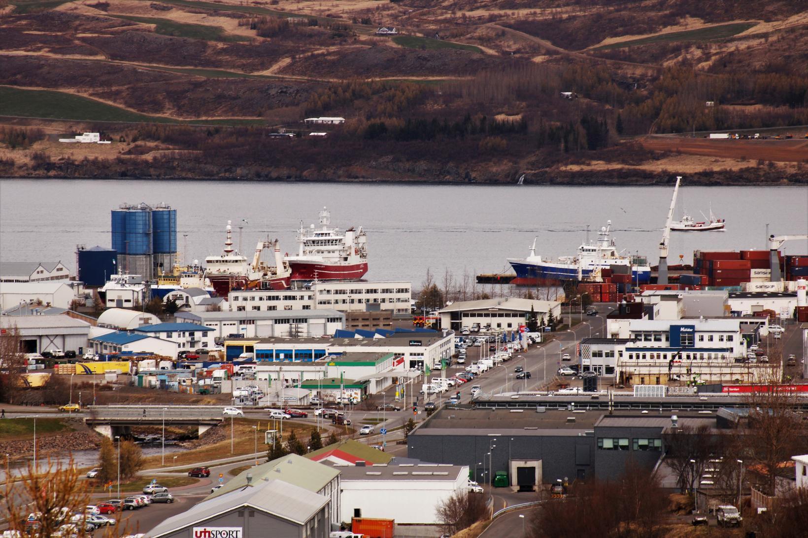Í nótt mældist eins stigs frost á Akureyri.