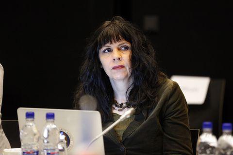 Birgitta Jónsdóttir, one of the Pirate Party's three current MPs.