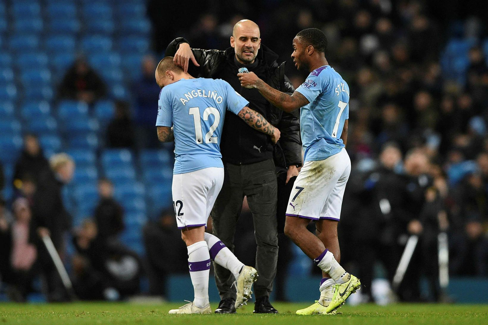 Pep Guardiola hughreystir Angelino og Raheem Sterling eftir tapið gegn …