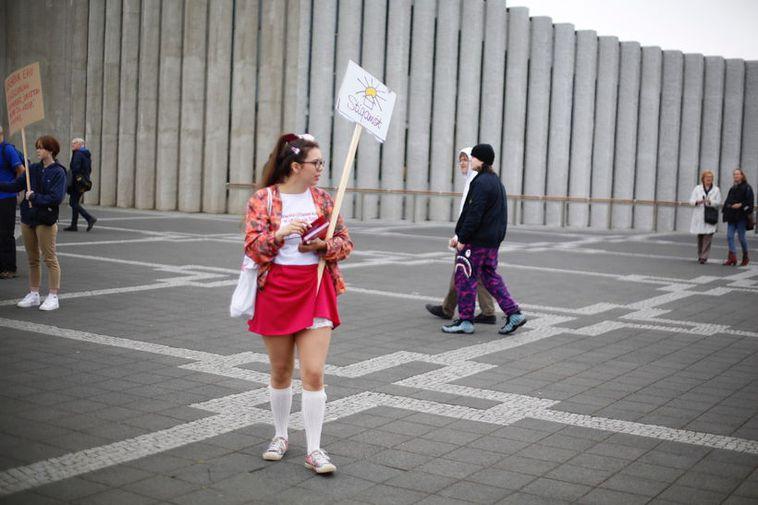 From the SlutWalk in Reykjavík.