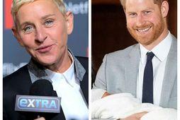 Ellen DeGeneres hitti Archie litla í sumar.