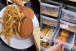 McDonalds hamborgarar og franskar eru meðal þess sem næringarfræðingur nokkur hefur geymt í hátt í …