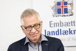 Þórólfur Guðnason sóttvarnalæknir sagðist hafa glott út í annað yfir ummælum Björns.
