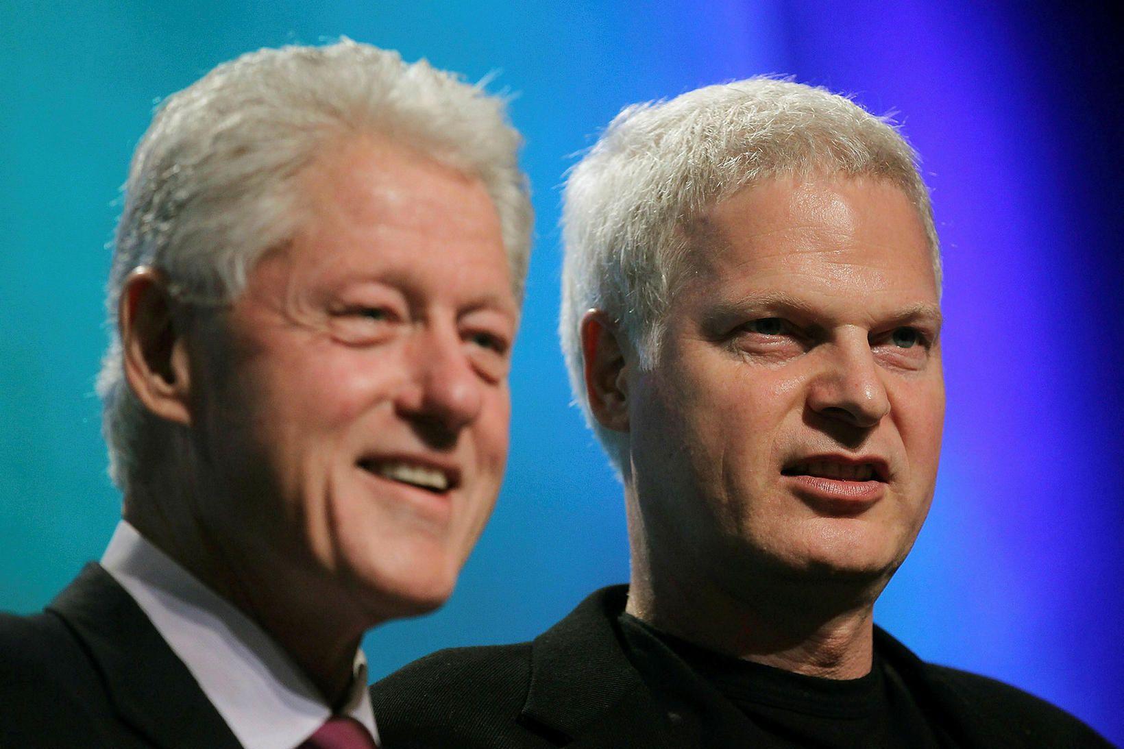 Bill Clinton og Steve Bing voru miklir félagar.