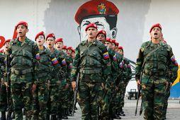 Her Venesúela er enn hliðhollur Nicolas Maduro forseta.