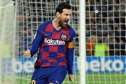 Lionel Messi hefur leikið með Barcelona allan ferilinn.