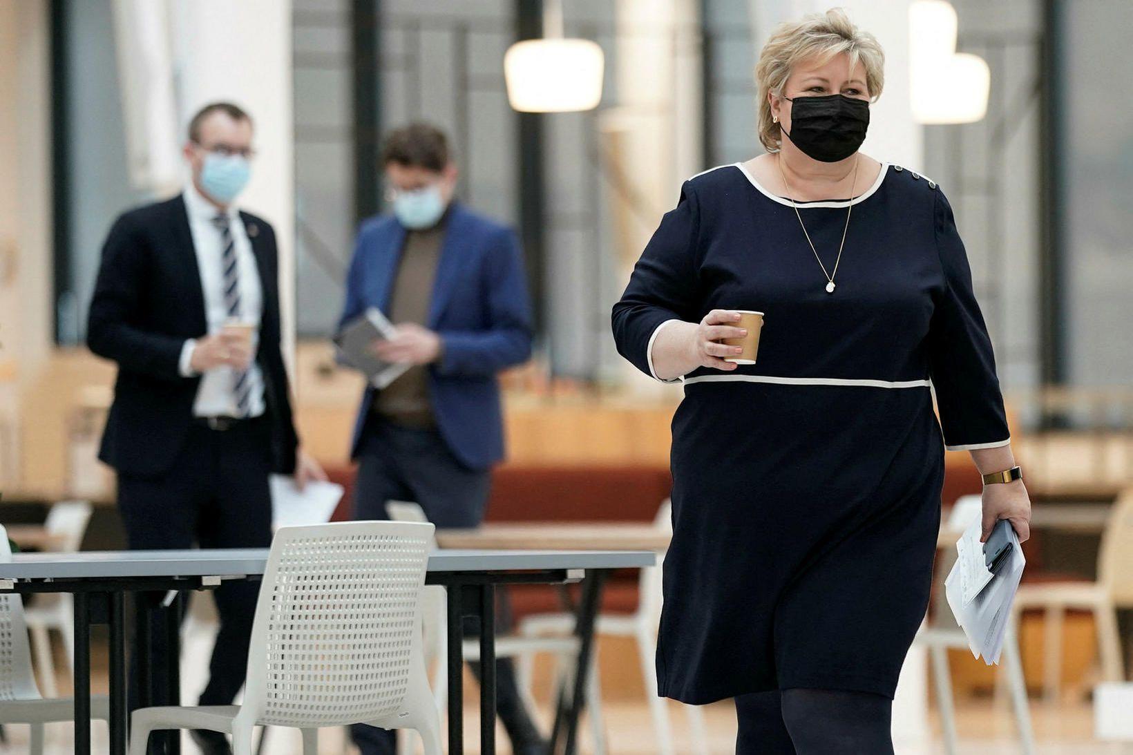 Erna Solberg forsætisráðherra Noregs.